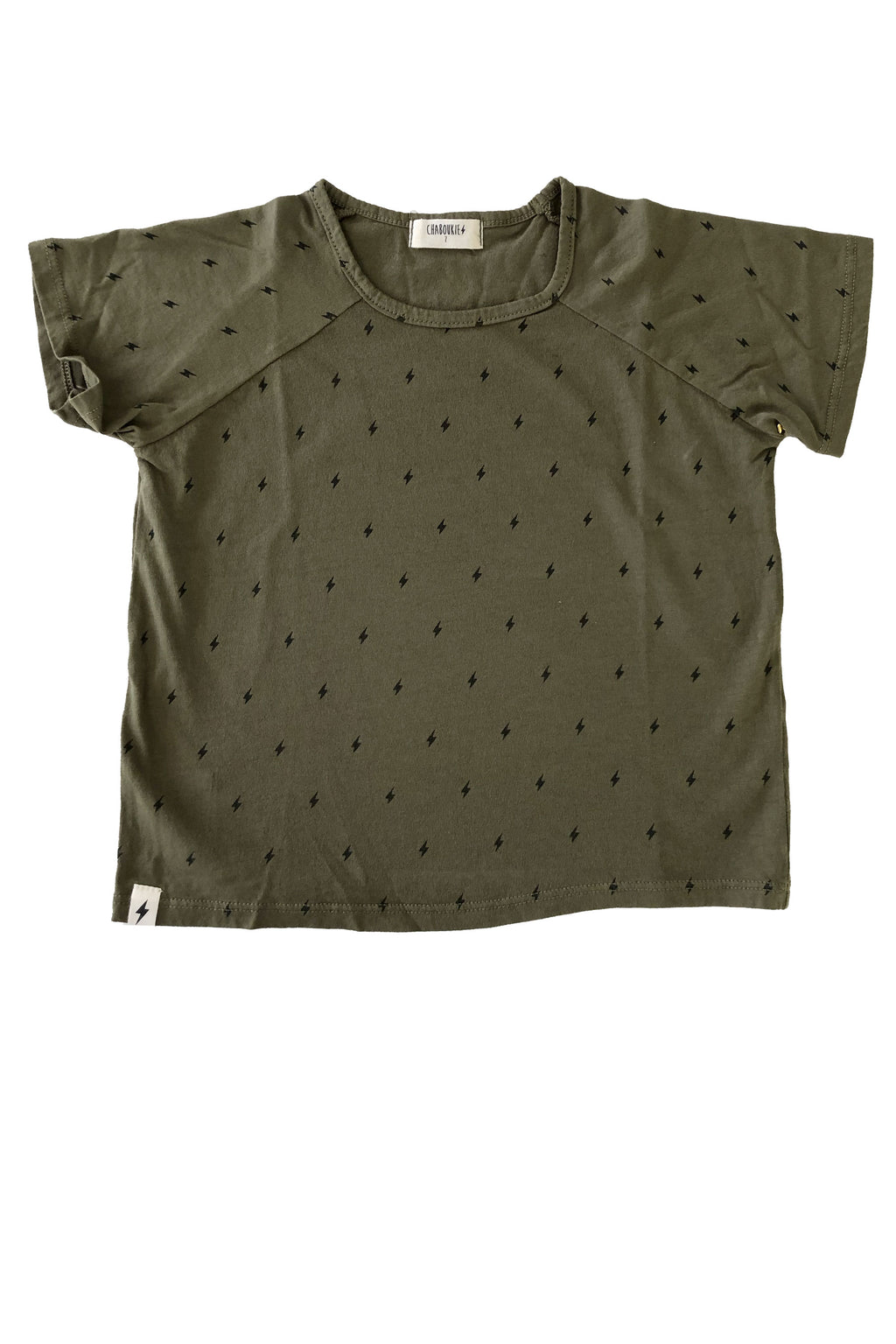 Boxy Tee in Olive Bolt