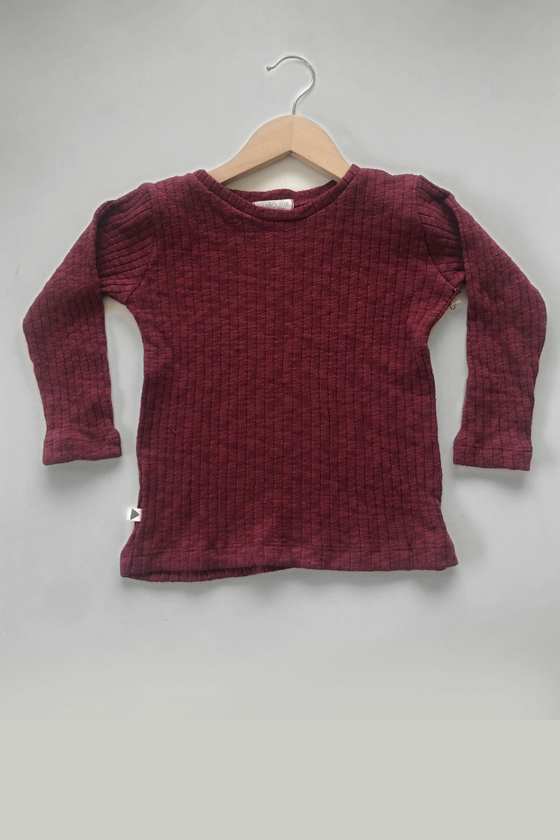 Long Sleeve Shirt in Raspberry