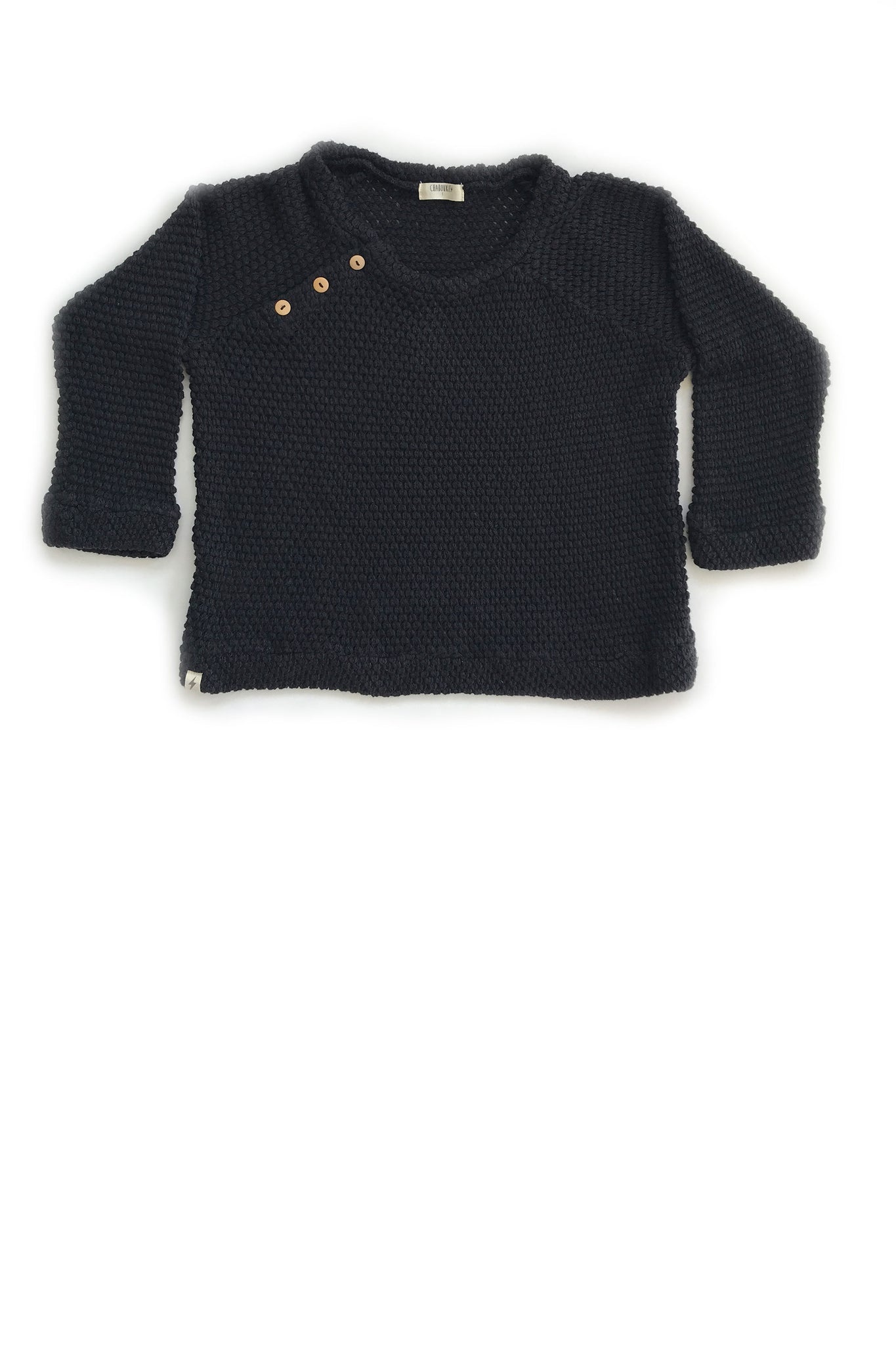 Button Sweater in Black