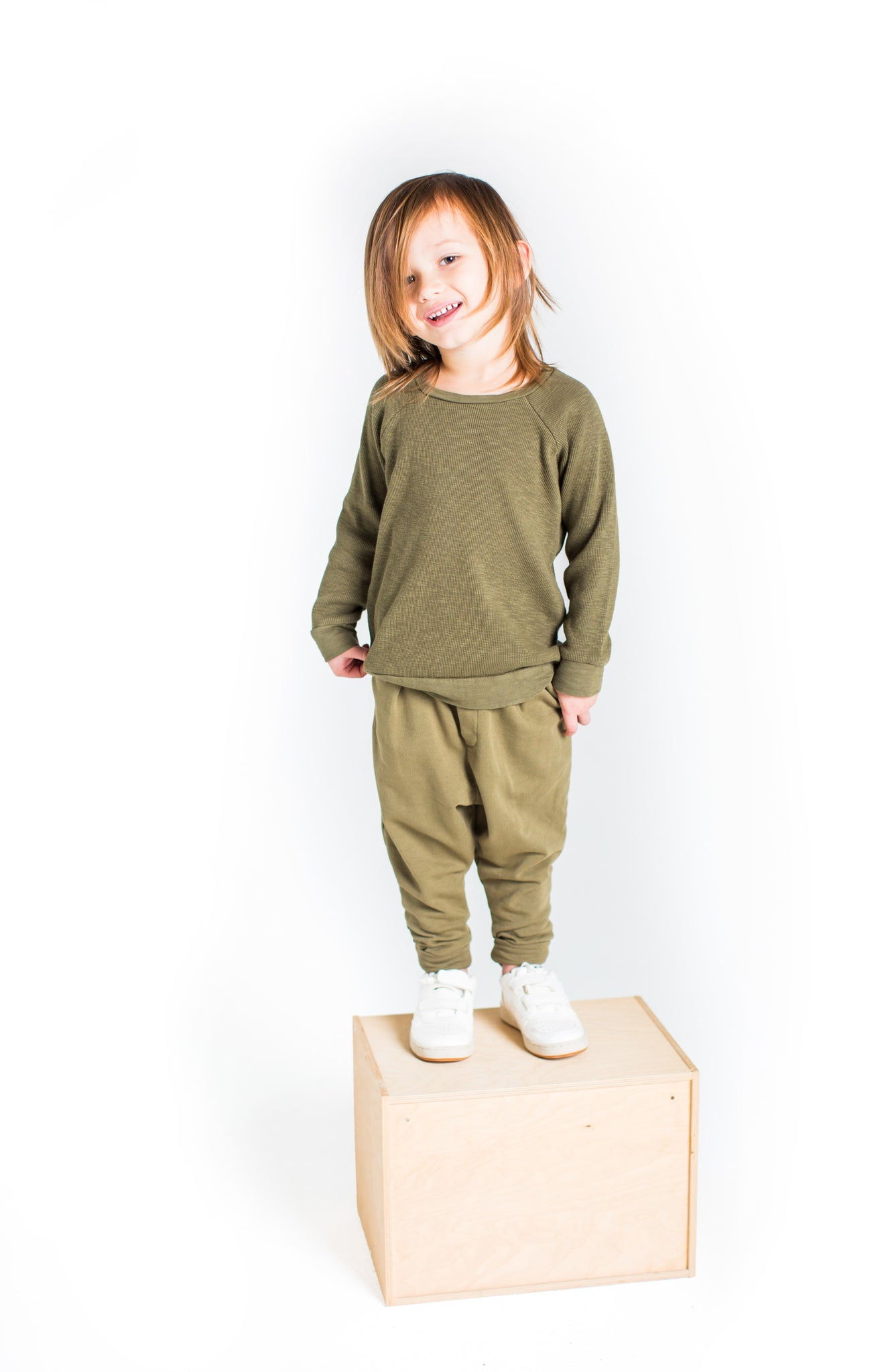 Slouch Pants in Olive