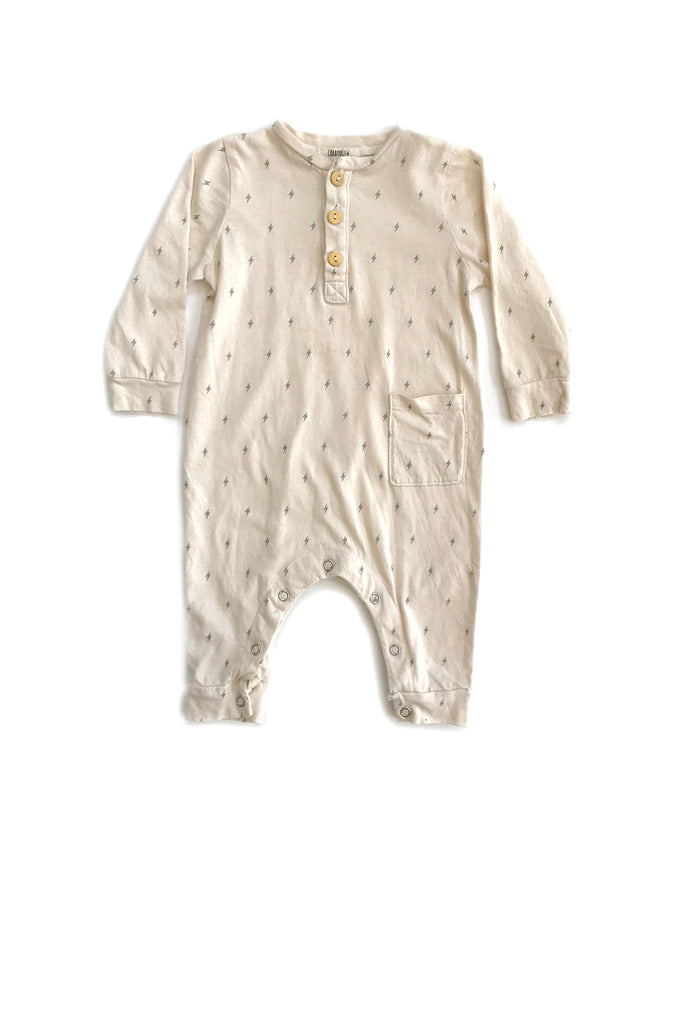 Onesie in Natural Bolt