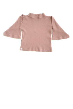 Rib Top in Mauve