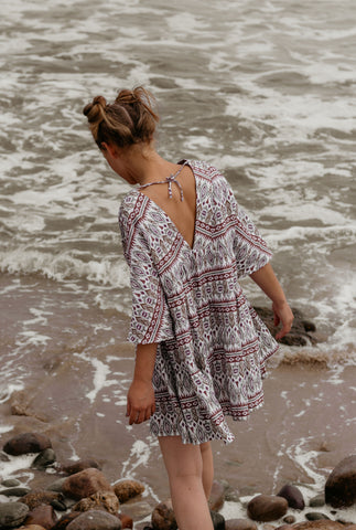 Printed Tiered Tunic Dress