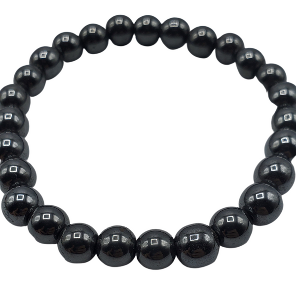 Black Tourmaline Bracelet Round 10mm Beads Chakra Gemstone Bracelet