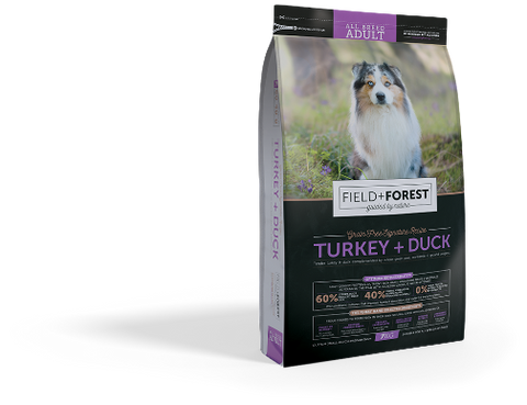 field and forest turkey and duck dog food