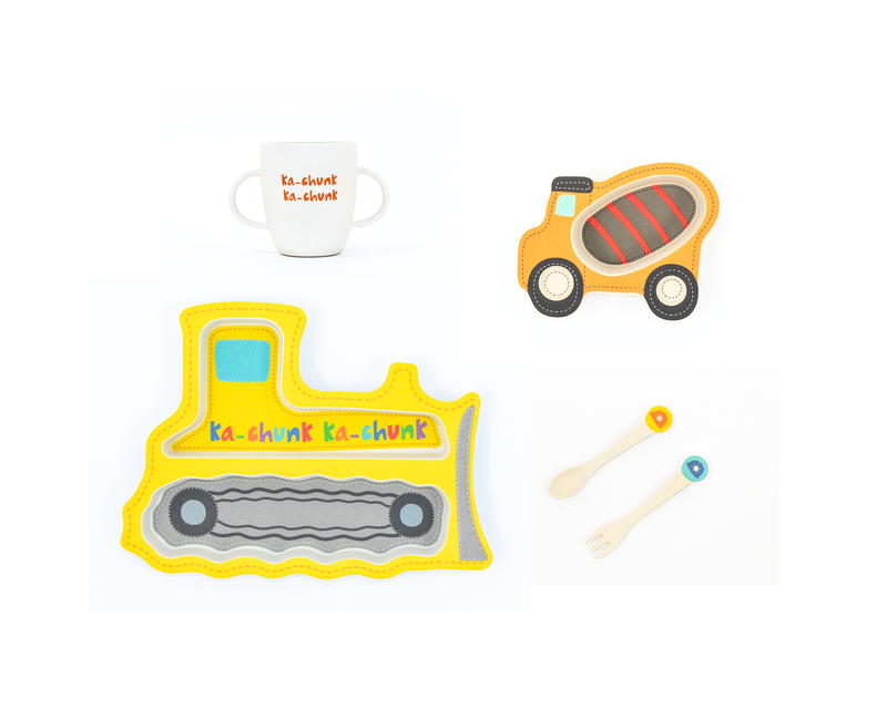 Construction Shaped Dinner Set