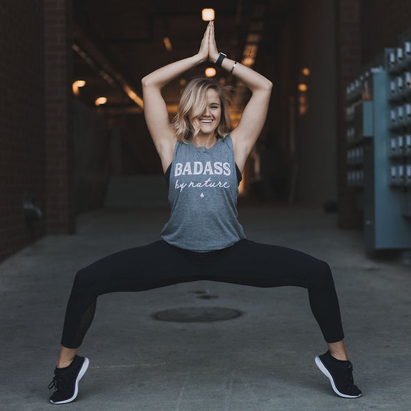 Bad ass by nature yoga shirt