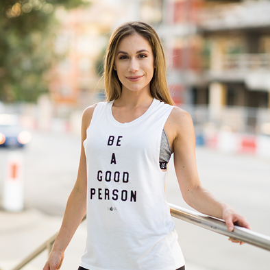Be a good person women's yoga tee