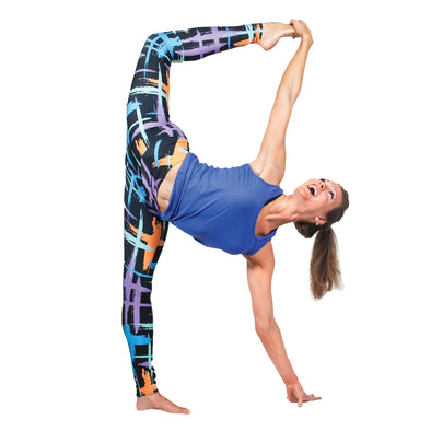 Colorful Paint Print Yoga Leggings