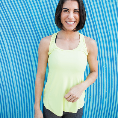 green yoga tank top