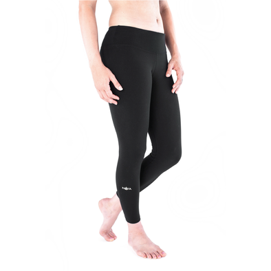 The Cropped Stem Pant – Black Sideview - Noya Yoga Apparel