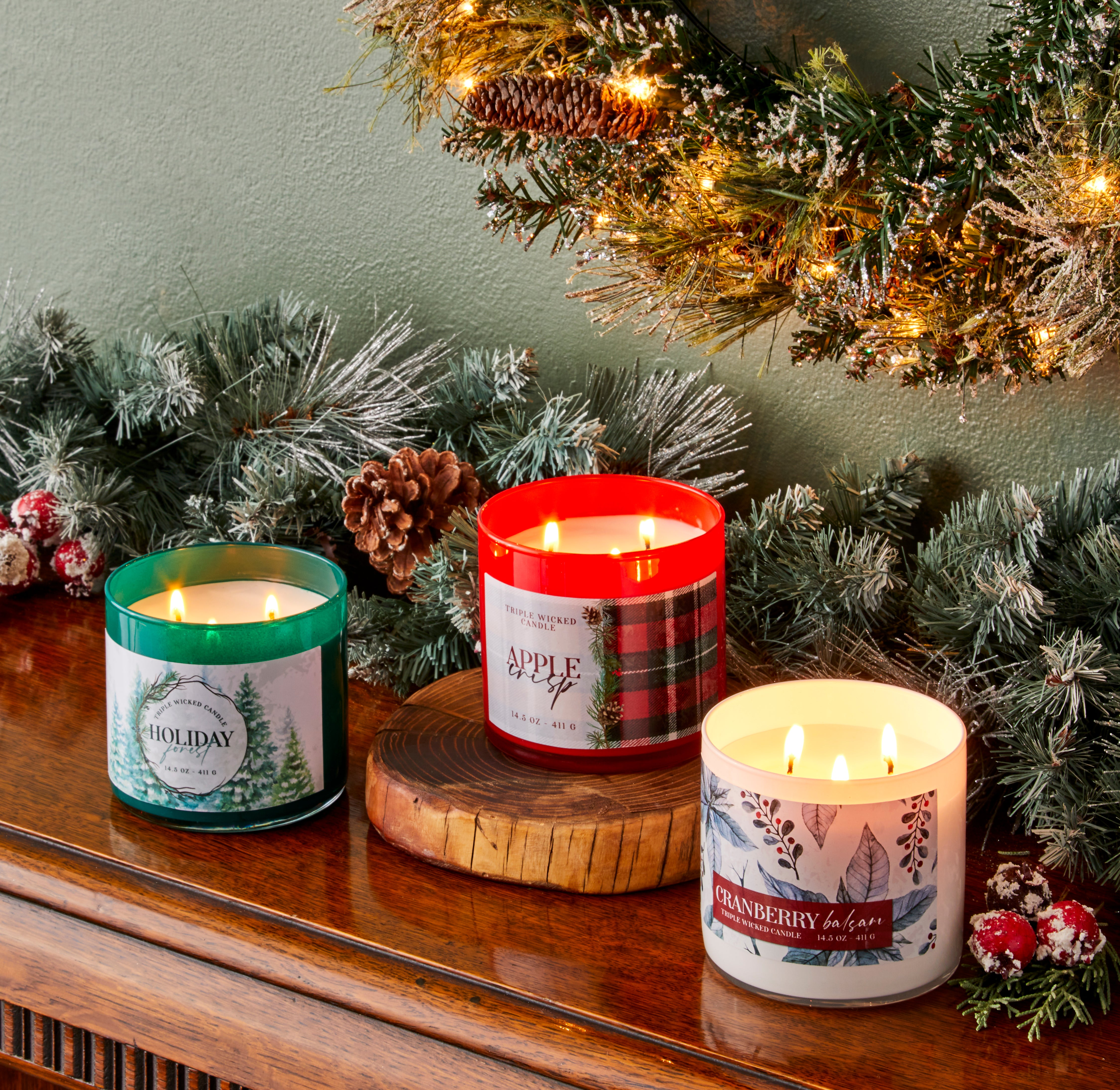 Pier 1 3-Wick Candles