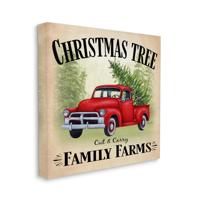 Red Holiday Truck Family Christmas Tree Farms Wall Art