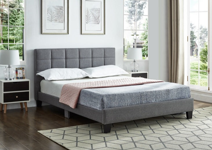 IF 5423 - Grey Fabric Bed - Double Lit
