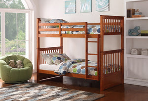 B 121 H - Single / Single - Bunk Bed - Honey - Lit Superposé