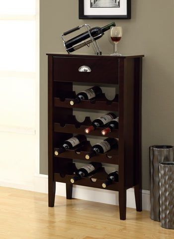 WINE RACK - CAPPUCCINO STORAGE FOR 16 BOTTLES