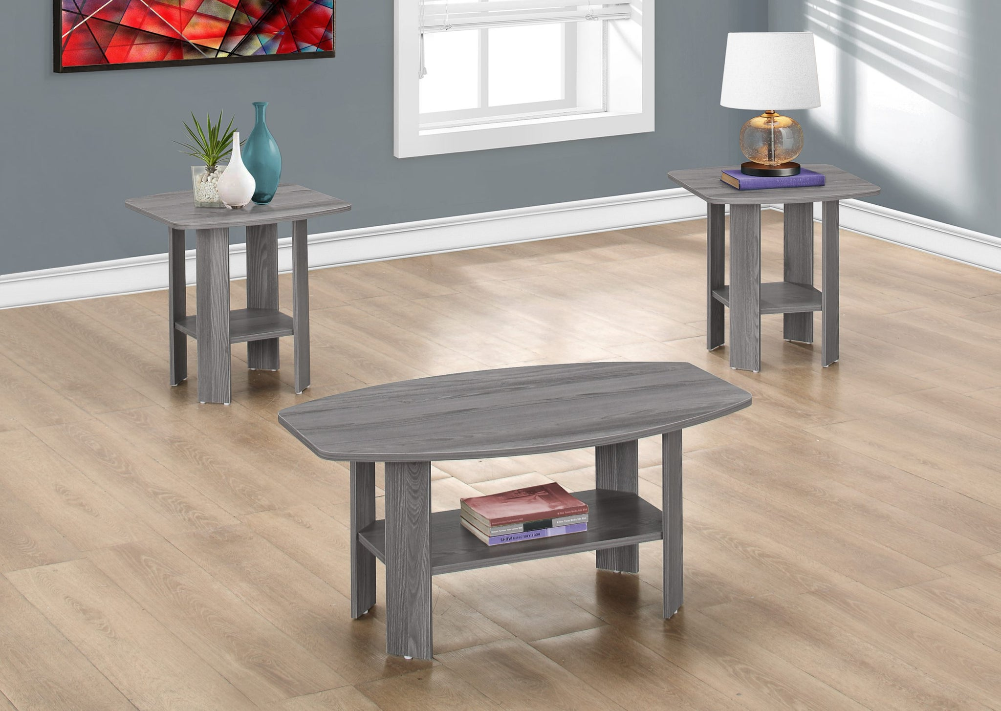 I 7925P-TABLE SET - 3PCS SET / GREY