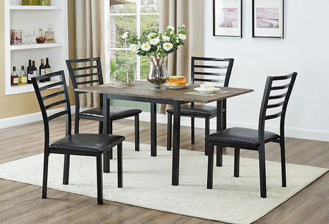 IF 1023 - 5pc Dining Set - Metal Legs