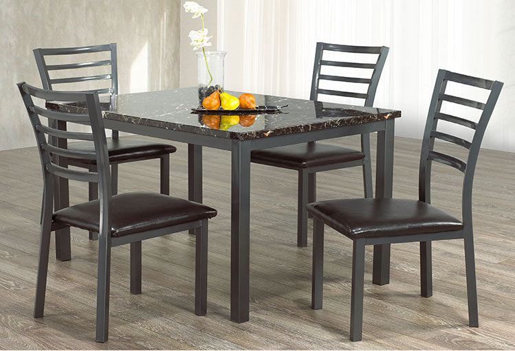 IF 1026 - 5pc Dining Set - Marble Top