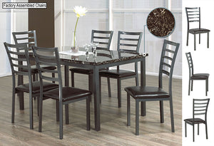 IF 1027 - 7pc Dining Set - Marble Top