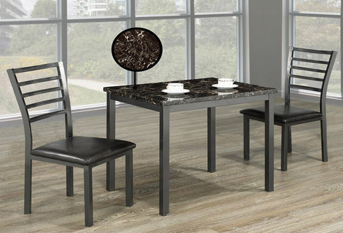 IF 1211 - 3pc Dining Set - Marble Top