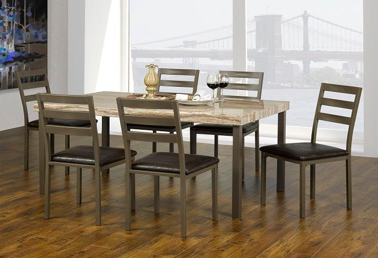 IF 1260 - Dining Set 7 pcs - Brown
