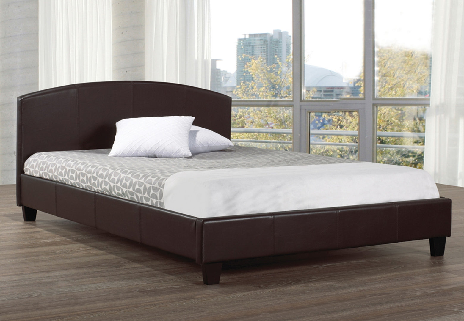 IF 133E - Espresso PU Bed - Queen