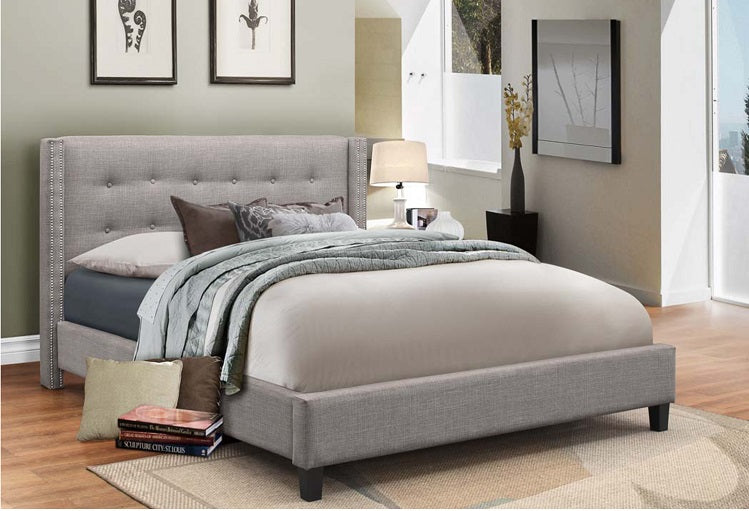 IF 189 - Bed - Grey Fabric