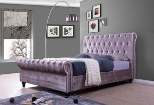 IF 195 - Bed - Lavender Velvet Fabric