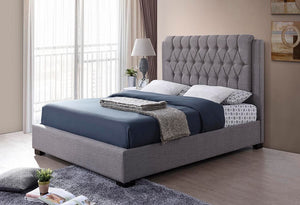 IF 196 - Platform Bed - Grey Fabric