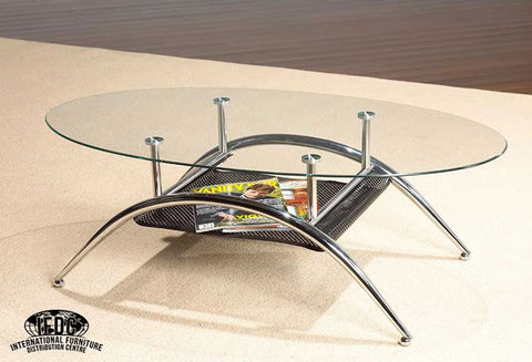 IF 2001 - Coffee Table - Glass \ Chrome