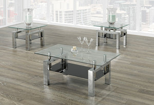 IF 2049 - 3pc Coffee Table Set - Chrome