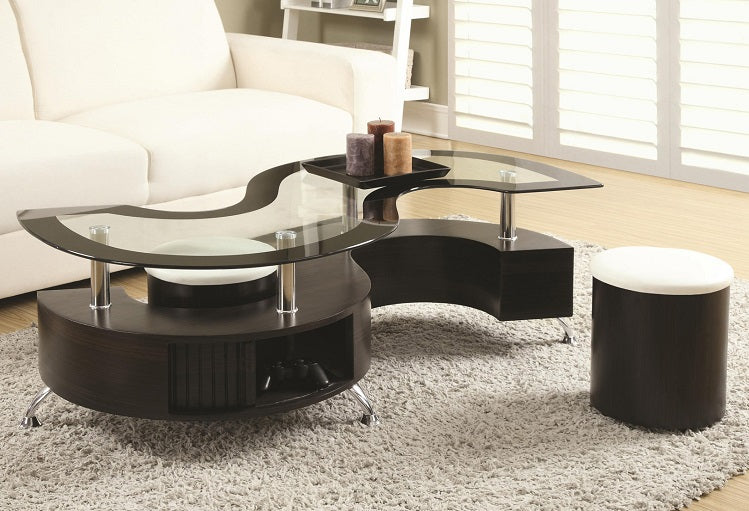 IF 2050 - Coffee Table Set with 2 Stools
