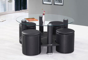IF 2057 - Coffee Table Set With 4 Stools