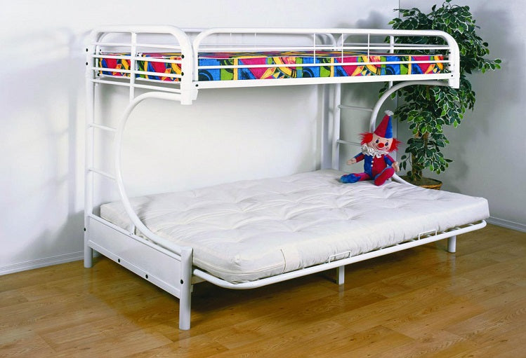 IF 230 W - Futon Bunk Bed - White Metal