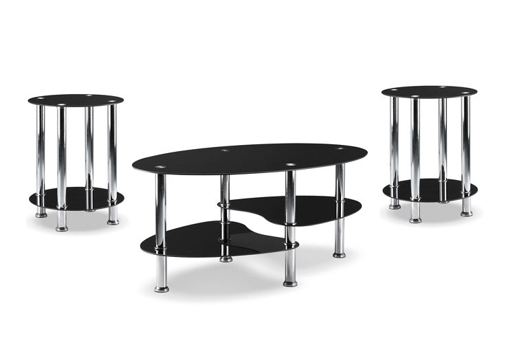 IF 2600 - 3pc Coffee Table Set - Black