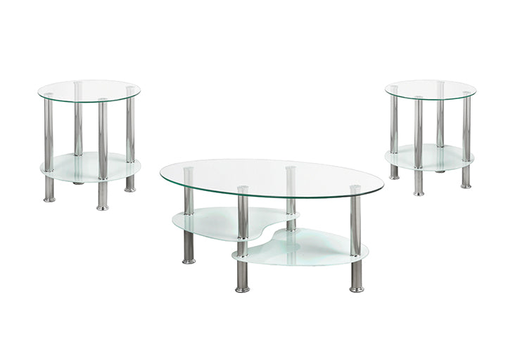IF 2605 - Coffee Table Set - White/Chrome