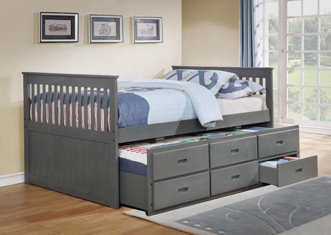 IF 314  - Single / Single Captain Bed - Grey