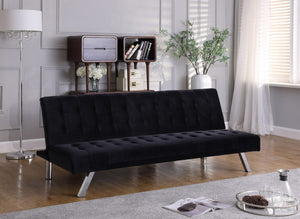 IF 346 - Sofa Bed Black Velvet