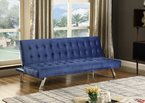 IF 347 - Sofa Bed Blue Velvet