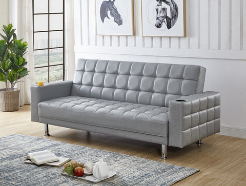 IF 355 - Sofa Bed Grey Fabric