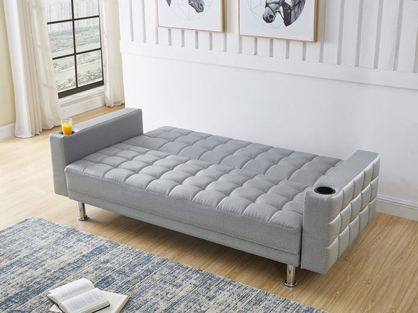 IF 355 - Grey Fabric Sofa Bed