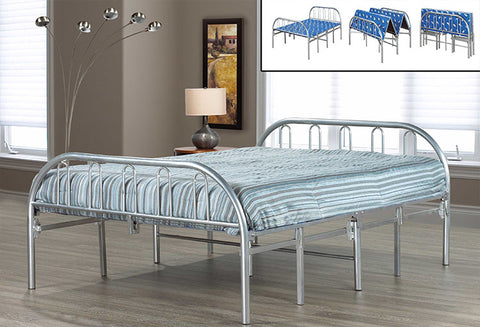 IF 392 - Folding Bed Chrome - Silver Metal