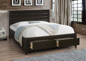 IF 421 - Espresso Wooden Bed - Double Lit