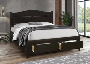 IF 422 - Espresso Wooden Bed - Double Lit