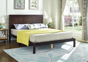 IF 425 - Wooden Bed - Espresso - Queen / Grand Lit