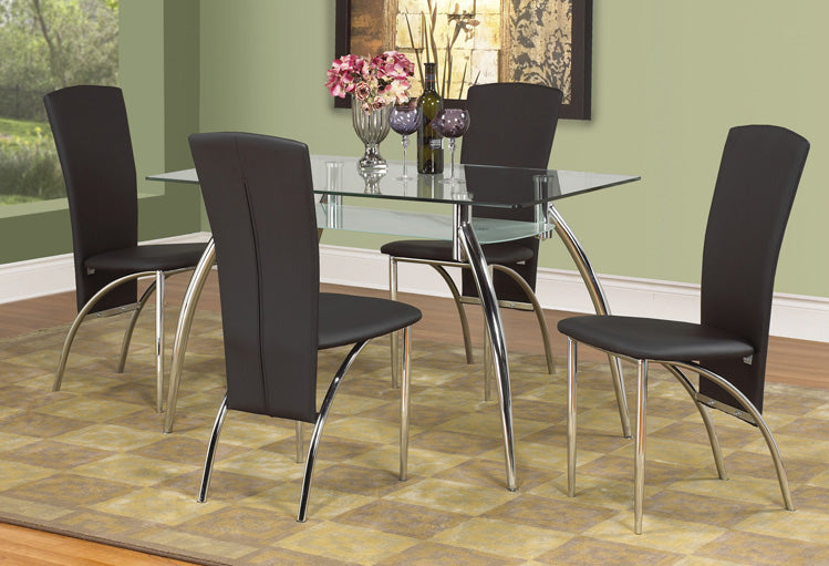 IF 5052 - Dining Set 5 pcs - Chrome Legs