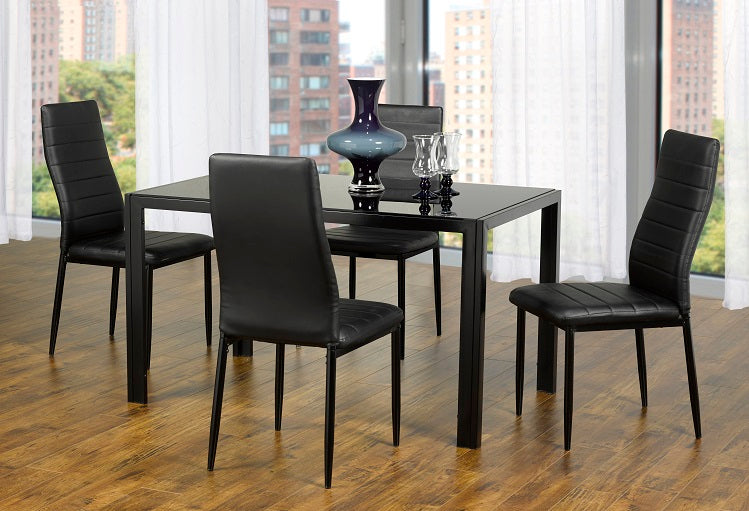 IF 5053 - Dining Set 5 pcs - Black