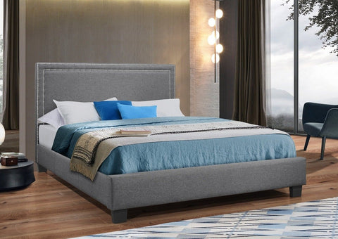 IF 5280 - Grey Fabric Bed - Lit Gris