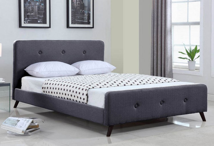 IF 5400 - Platform Bed - Grey Fabric
